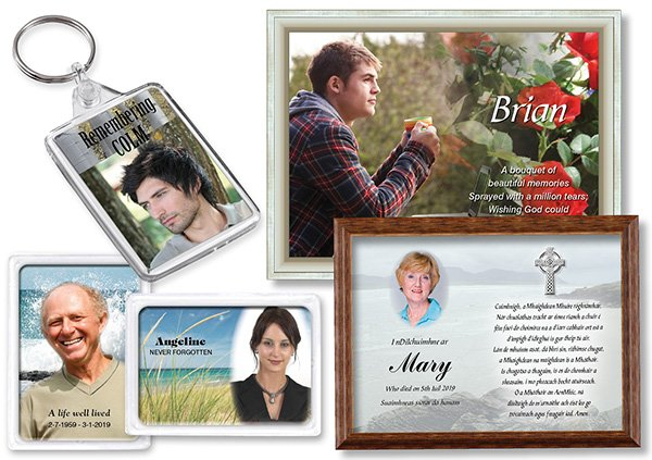 Composite-Keyrings-Magnets-Photos-Donegal-Memorials