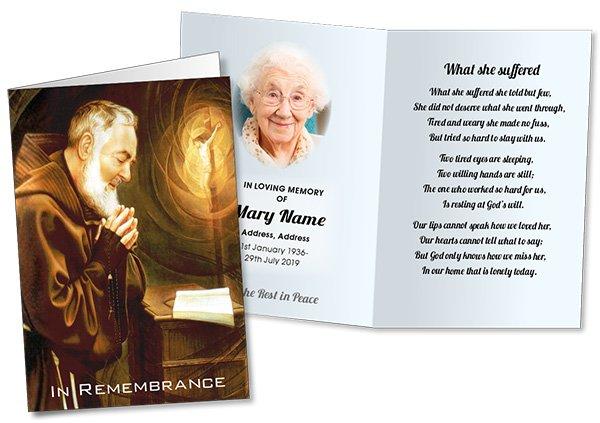 Folded Memorial Card 113